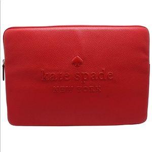 Kate ♠️ Spade Hot Chili Sienna Logo Laptop Sleeve